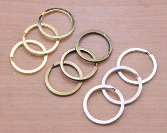 20Pcs key ring,Silver Plated key ring,30mm Diameter Key ring  Round key ring  Silver Split Key Ring, Round Split Key Ring Charm Connector