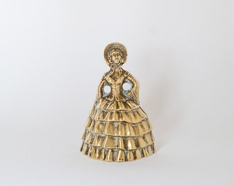 Vintage Brass Lady Bell - Made in England