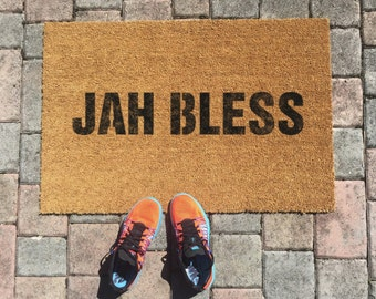 Jah Bless Jamaican Doormat by One Summer