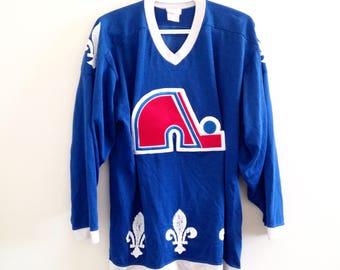 Quebec Nordiques Vintage Sandow Sporting Knit Hockey Jersey