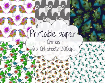 Printable paper: Animal set
