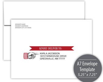 Chili Cook Off A7 Envelope Template --- Instant Download --- Printable --- #C550-IE