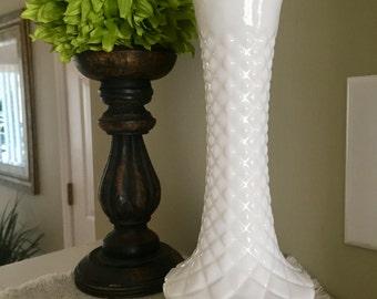 Milk Glass Bud Vase, Milk glass Vase, Milk Glass, Wedding Decor, Vintage Milk Glass, Milk Glass Vases, Bud Vase, Vintage Wedding