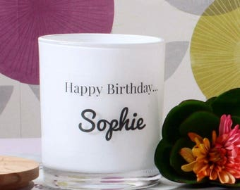 Personalised Happy Birthday Candle - LARGE