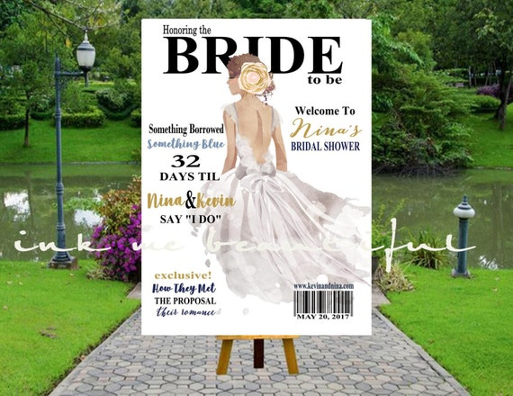 PRINTABLE Bridal MAGAZINE Welcome Poster Welcome Bridal