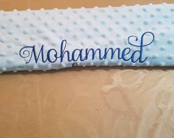 Personalised baby blanket with any name