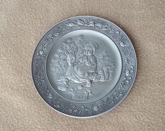 Hallmark Little Gallery Pewter Plate 1989