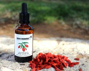 Mothers Day Gift / Goji Berry Oil / Goji Berry Seed Oil / Facial Goji Oil / Facial Treatment Oil/ Anti Aging Goji /Organic Goji Oil