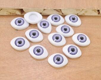 Free Shipping!10pair large Purple Eyeball Cabochons,Doll Eyes,Doll Eyes Plastic,Eyes Craft,Eyes Flat Back,doll eyes supplies 23x16mm