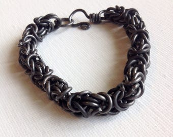 Byzantine weave chainmale bracelet
