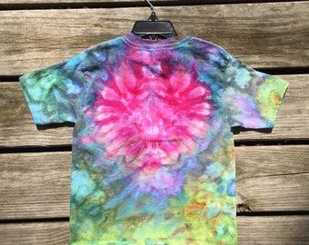 Kids short sleeve tie dye (5T), Ice tie dye, Abstract Heart - 5T (321)