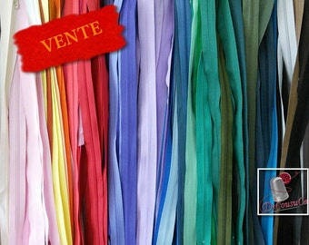 70%, (16.56 reg), Kit 12 Zippers, SURPRISE, varied color, varied size, 12 cm - 65 cm, nylon, perfect for wallets, clothing, repair,