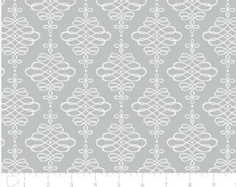 Lavishmint, gray, scrooling along, 4141903, col 02, Camelot Cotton, multiple quantity cut in one piece, 100% Cotton