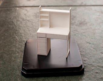 1:24 Micke Desk With External Addon Unit High - IKEA