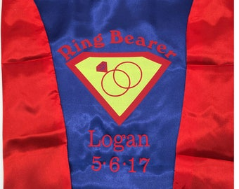 Ring Bearer Cape with Name & Date