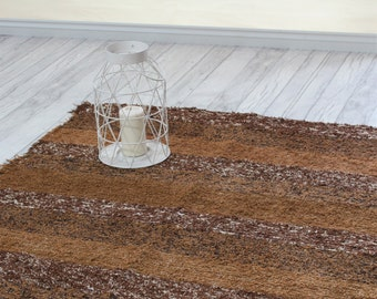 Brown Rug 120X160 Cm. (4u0027 X 5u00273 ) Brown Rug.