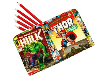 Superhero Pencil Case, Comic Pencil Case,  Avengers Pencil Case, Make-up Bag, Coin Purse, Back to School, Gifts for Geeks