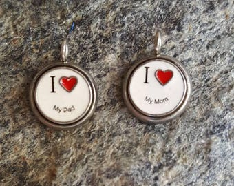 Stainless Steel Mom or Dad Charm(Addition to Pendants) Thoughtfullkeepsakes Shop