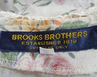 Vintage 60s, BROOKS BROTHERS, Floral Blouse, Vintage Japan Blouse