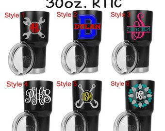 Personalized 30 oz. Black RTIC Tumbler-Great Christmas or birthday Gift