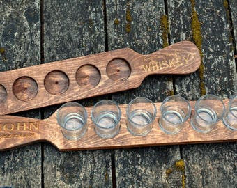Engraved Beer Flight Tray Wedding gift, Groomsmen gift, housewarming and beer lover gift , Customized