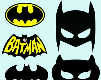 Batman Mask SVG DXF Batman Logo SVG Dxf Batman Printable Batman Cat Mask Cut File Clipart Vinyl Cutting