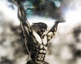 Atlas Rise Canvas Art - Dark Mythology Portrait