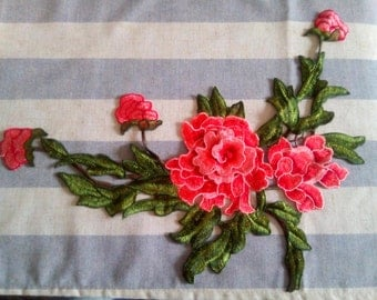 3D floral embroidery patch,applique, flower applique, motifs, flower motifs, clothes art work