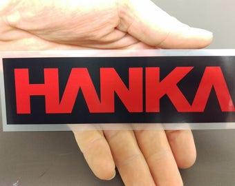 HANKA ROBOTICS sticker, ghost in the shell