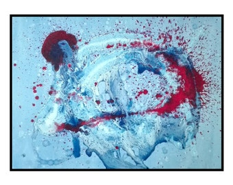 Large canvas original Abstract Painting Red White and Blue Artwork home decor Wall Art - Liberation by Robert McConvey