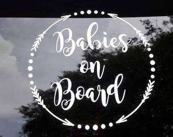 Babies on board car decal, baby on board car decal, mom car decal, babies on board sticker, baby on board sticker, mom sticker