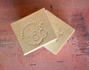 APRICOT SOAP -   Handmade Soap, Natural Soap, Bar Soap, Homemeda Soap Vegan soap,  Gift for Her, Gift for Mom, Bridesmaid Gift, Wedding Gift