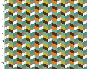 Forest Friends, Multi colored chevrons, chevron fabric, by 3 Wishes, 11668
