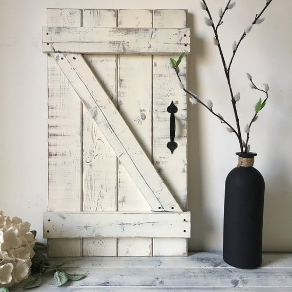 Rustic Gallery Wall Rustic Shutters Fixer Upper Style Wood