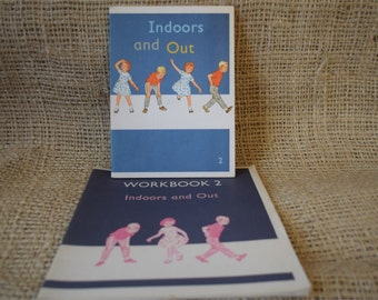 The Kathy and Mark Basic Readers Book 2 Indoors and Out with Workbook 2.