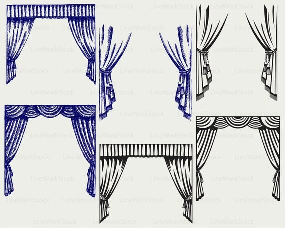 theater vorhang svg clipart vorhang svg vorhang silhouette. Black Bedroom Furniture Sets. Home Design Ideas