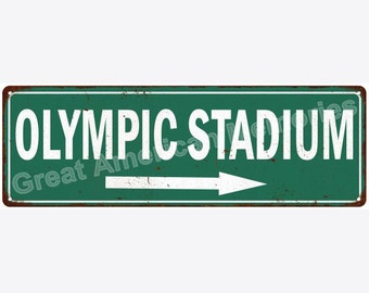 Olympic Stadium Vintage Look Reproduction Metal Sign 6x18 6180599