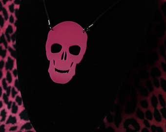 Acrylic large skull necklace