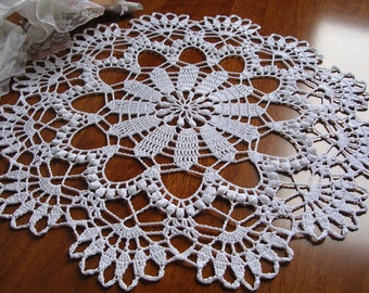 crochet round lace doily white cotton placemat doily crochet centerpiece table decoration wedding unique birthday easter gift for her mom