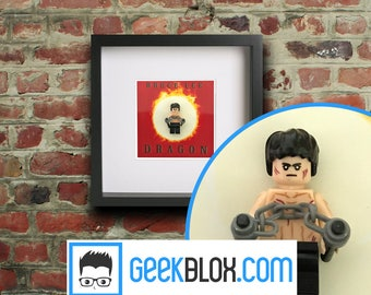 Bruce Lee - Dragon Framed Lego Minifigure