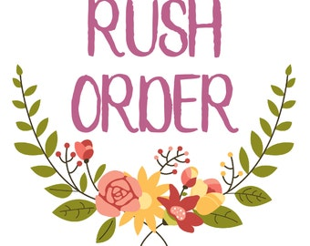 RUSH ORDER | Purchase with Listing of Choice