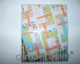 Quilt Kit ~ Corporate Ladder Connecting Threads~ Pattern + Fabrics ~ 60  x 70
