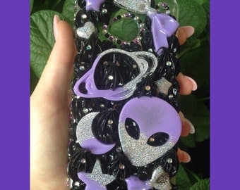 Galaxy Themed Pastel Goth Decoden Phone Case for HTC One M9