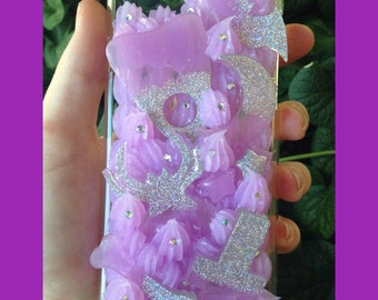 iPhone 7 Holographic Glitter & Purple Pastel Goth Case