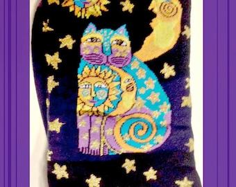 Art Socks, Laurel Burch, Cat Art Socks,Designer,Celestial Cat,Cotton Blend, Gift for Women,Art Teachers,Teachers,Gift,Art Socks