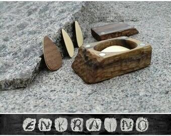 4 wood Guitar PICKS/WALNUT pick holder/guitar pick box/wooden guitar pick/guitar pick case/wooden guitar picks/Handmade/Hand carved