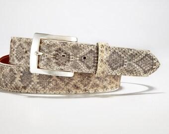 Genuine Authentic Rattlesnake Skin Belt