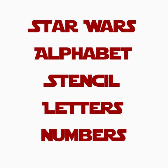 Hervorragend STAR WARS stencil font full alphabet AND letters Template RG08