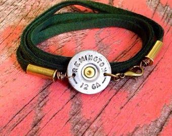 12 Gauge Shotgun Shell Wrap Bracelet