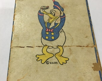 Rare vintage 1930s Donald Duck brush and original box